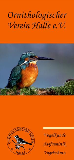 Faltblatt über den Ornithologischen Verein Halle e.V.